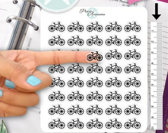 Clear Bike Stickers Bicycle Stickers Cycling Stickers Erin Condren Functional Stickers Decorative Stickers NR416