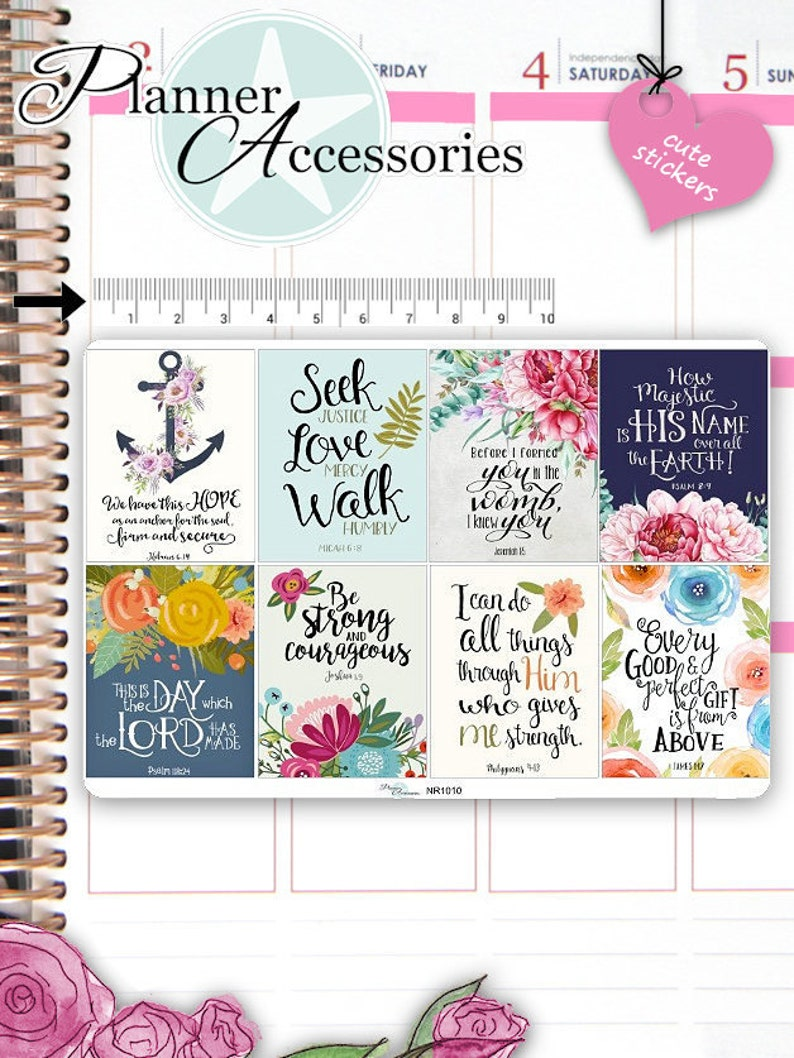 Bible Verse Sticker  Christian Stickers  Agenda Stickers image 0