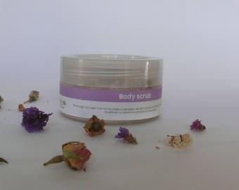 Body Sugar Scrub, Body Polish, Cellulite, Exfoliator, Greek Sea Salt body scrub, Sugar scrub by Myrtillo Cosmetics
