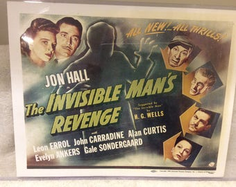 The Invisible Man's Revenge Lobby Card - Universal Monsters - Free Shipping!