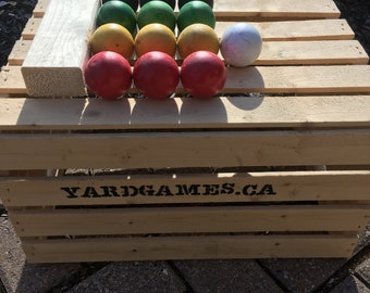 Petamque Tossing Game (Bocce Ball) with no rolling. 4 Player