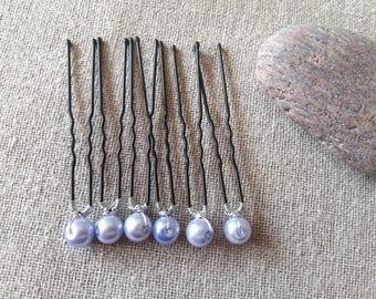 Lavender Blue Bobby pin hair pin wedding pin wedding hairstyle wedding - set of 5