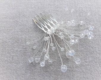 Transparent wedding comb hair comb Pearl bridal hair accessories bridal hair accessories