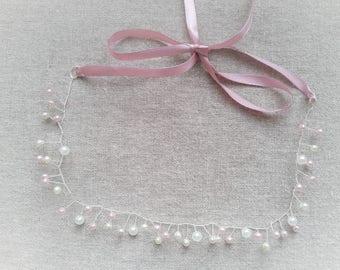 Old rose wedding headband wedding tiara Crown hair fairy princess procession - headband wedding headband wedding hairstyle