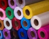 25m X 29cm Organza Fabric Roll - Wedding Chair Sash Bows Table Runner Party Sheer Fabric