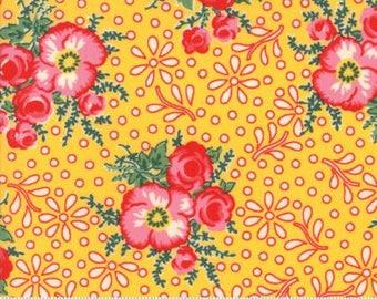 Merry Go Round Yellow 21720 14 - Moda Fabrics 100% Cotton Quilting Fabric by American Jane
