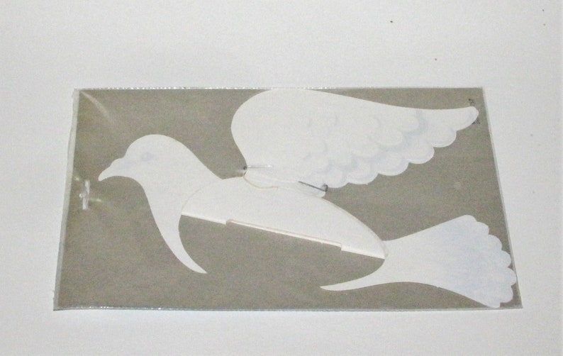 12 long Made in Denmark by Perola HONEYCOMB DOVE wedding  party decoration MINT in Package
