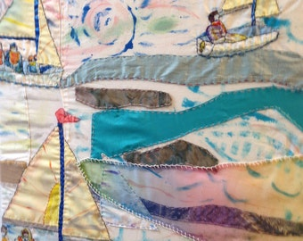 Witterings Dinghy Sailing is an original wall hanging by Create Display
