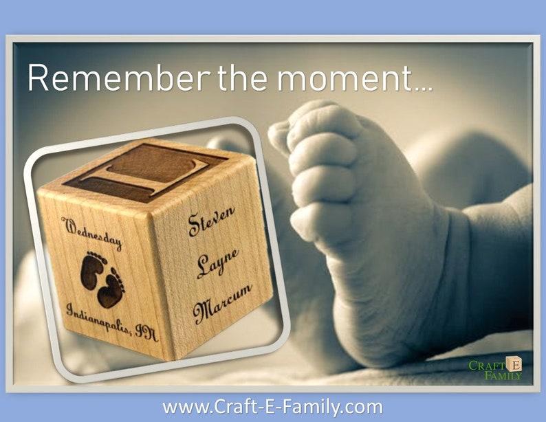 Personalized Baby Block New Baby Birth Block Personalized Baby Gift Newborn Keepsake Baby Girl Baby Boy Wooden Baby Block Baby gift