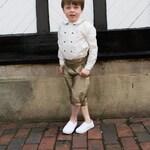 Charles Page Boy Knickerbockers Set 100% Silk - Double Breasted Pageboy Shirt with Contrast Trim, Pageboy Knickerbockers & Cummerbund