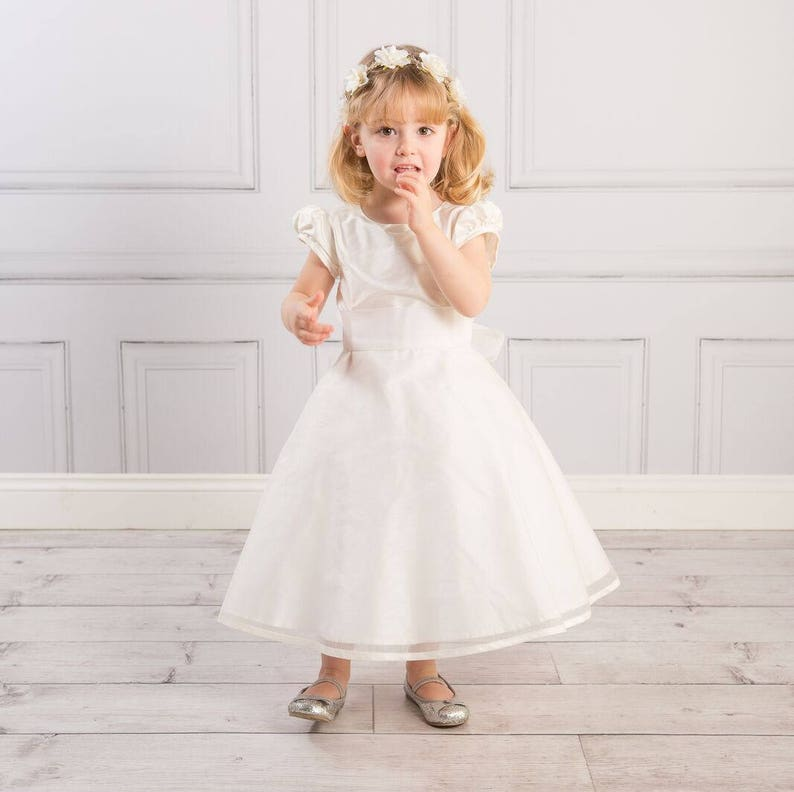 ae51d53812d Matilda Silk Organza Flower Girl Dress