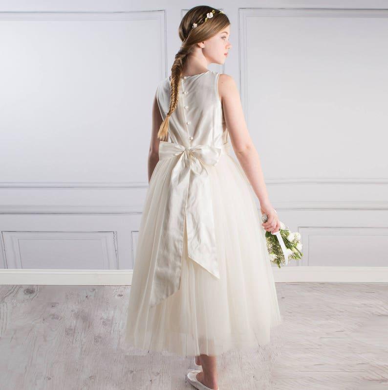 5eace8e96a Ava Flower Girl Junior Bridesmaid Flower Girl Dress Silk and