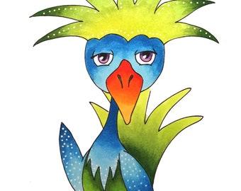 Fantasy Bird, DIGISTAMP-FUNNY03 Digistamp