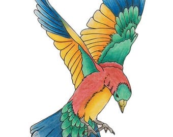 DIGISTAMP-ANIMAL01 Digistamp, Stamp, Colouring image, Bird