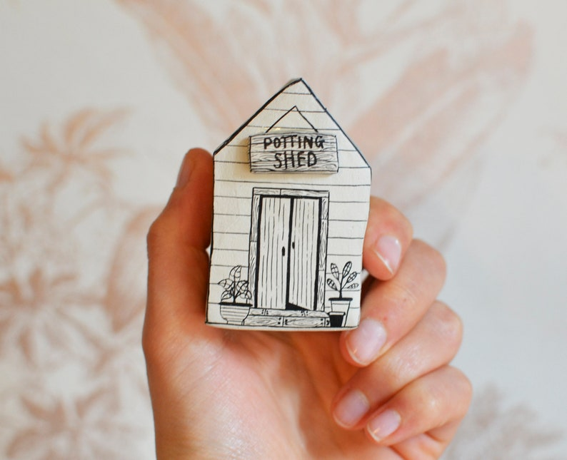 Petite handpainted house by Maisie Parkes Design on Etsy. Come discover Handmade Decor & One of a Kind Finds from Etsy Award Finalists: Hello, Lovely Makers!