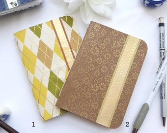Bee Love Notepads - Pamphlet Bound with Honeybee and Honeycomb Washi Strips