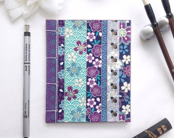 Bee Love Notepads - Japanese Stab-Bound with Honeybee and Honeycomb Washi Strips