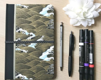 """6"""" x 9"""" Dot Grid Journal - Japanese Yuzen Washi Cover with Dot Grid Lined Marker and 94 Pages of Dry Media Paper"""
