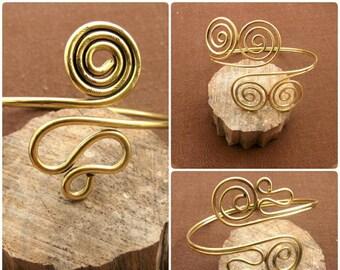 Brass - infinity spiral arm