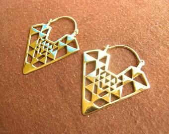 Earrings - Sri yantra