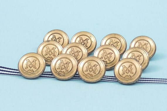 Sets of Vintage British Gilt Livery Buttons by Firmin 3 per set London