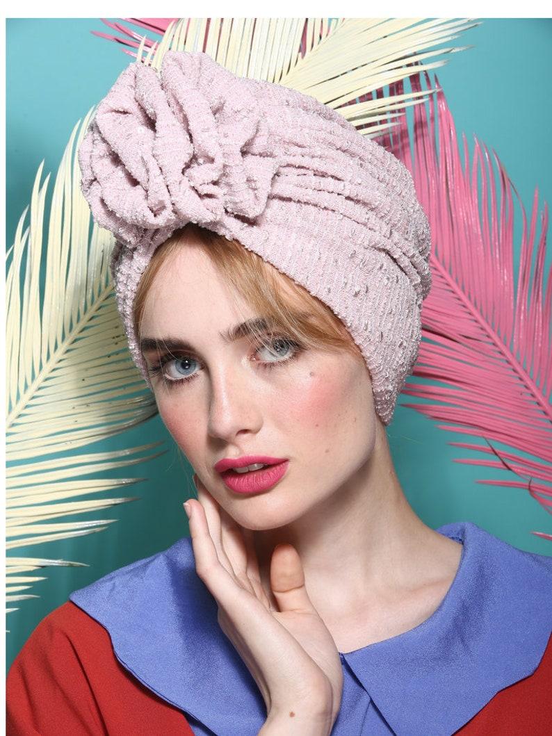 Fashion turban turban hat full turban head covering 1950s  21edd4e94912