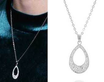 swarovski necklace, swarovski crystal, crystal necklace, bridal necklace, wedding necklace, bridal jewelry, wedding jewelry