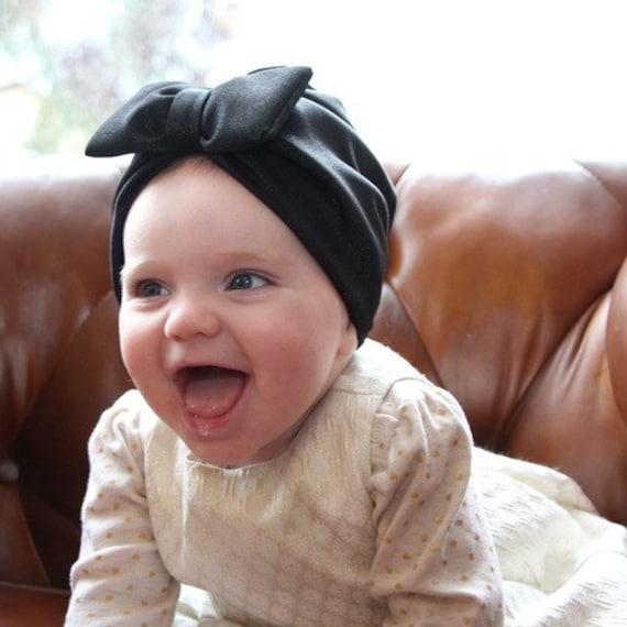Newborn Girl Hat Headbands Baby Girl Baby Hat Black Baby Etsy