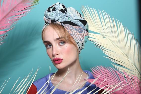 fashion turban turban hat full turban head covering 1950s  908d3a5239db