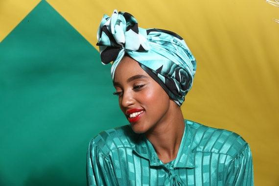 Turban pink turban flower full turban hat turban headwrap  efbe65ba6112