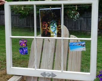 Antique window picture frame