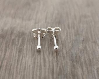 dafc95e88 Silver studs - Stud Earrings - Sterling silver studs - Tiny Stud Earrings - Sterling  Silver Stud Earrings - Ball stud earrings - Small Studs