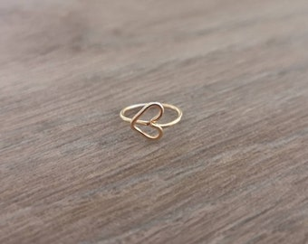 14K gold filled heart nose ring - Cute nose ring - Boho nose ring - Nose ring UK - Small nose ring UK - Nose stud jewellery