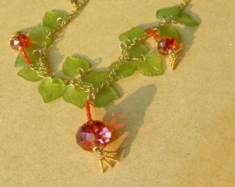 Chinese Lantern Necklace II
