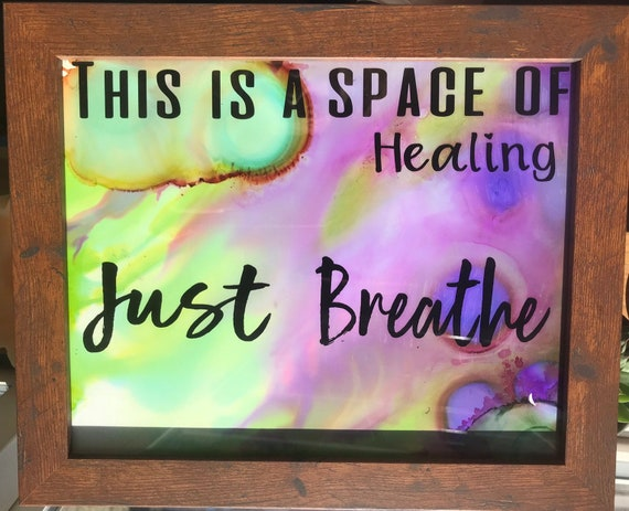 Just Breathe Sign Meditation Room Decor Yoga Studio Decor Etsy