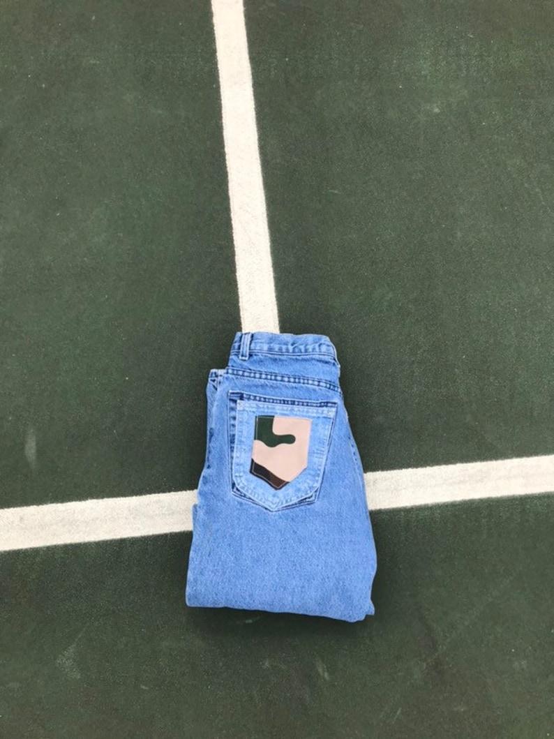 Vintage Camo Patchwork Jeans