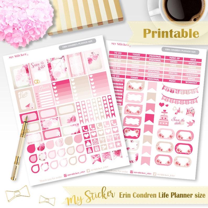 Erin Condren Wedding Planner.Wedding Planner Stickers Printable For Erin Condren Life Planner Bridal Planner Stickers Rose Pink Stickers Weekly Set Instant Download Eclp