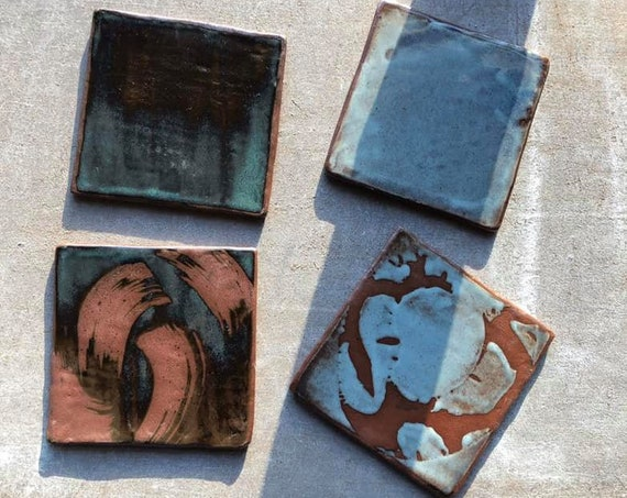 Set of 4 Coasters in Patchwork