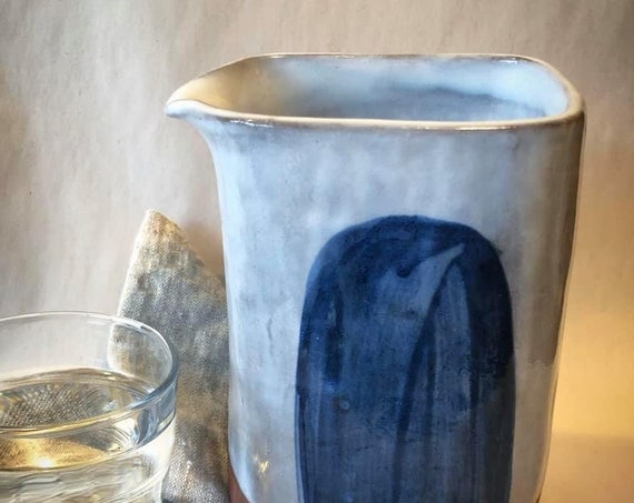 Large Pitcher in Blue Hue