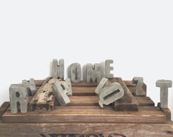 Concrete cement letters