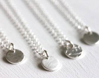 a7563f5367 925 Silber Plättchenkette, Kette mit Plättchen Anhänger, Münze Halskette