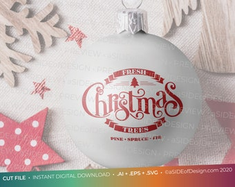 "Digital Download: Cricut Silhouette Cut files ""Fresh Christmas Trees""  SVG PNG EPS"