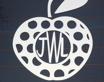 Monogram with Apple Design