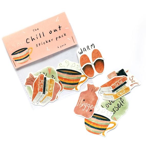 Pack of 6 vinyl Stickers