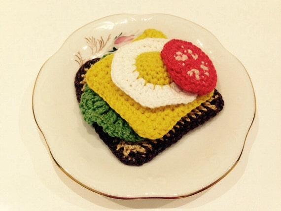 Häkeln spielen Essen häkeln Brot Ei häkeln häkeln Käse | Etsy