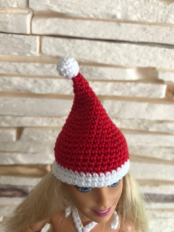 Weihnachtsmütze Häkeln Mode Puppe Weihnachtsmütze Etsy
