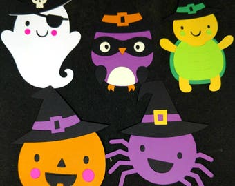 Halloween characters perfect for scrapbooking, gift tags or cupcake toppers