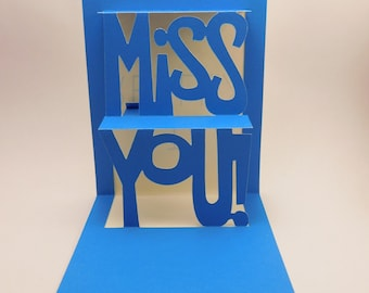 Missing you pop up card