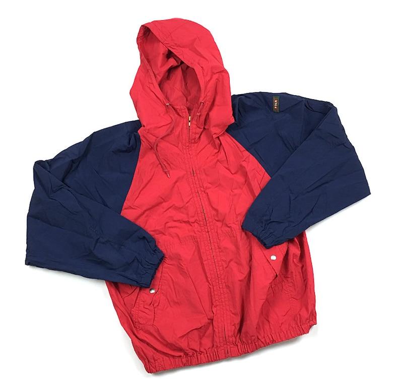 13a6dd864339 Ralph Lauren Polo Sport Zip Windbreaker Jacket Colorblock Blue | Etsy