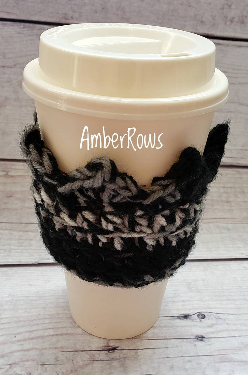 Crochet Crown Drink Holder  Reusable  and Handmade Cup Sleeve image 0